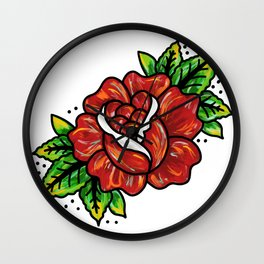Traditional Rose Wall Clock