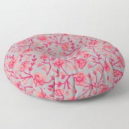 Watercolor Peonies - Coral Floor Pillow