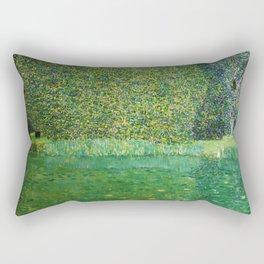 """Gustav Klimt """"Pond of Schloss Kammer on Attersee"""" Rectangular Pillow"""