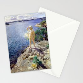 Anders Zorn In the Skerries Stationery Cards