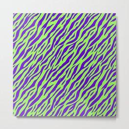 Vintage Retro 1980s 80s New Wave Zebra Stripe Pattern Metal Print