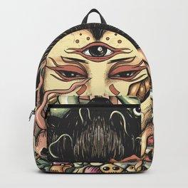 Geisha Doodle Flat Backpack