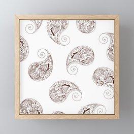 Paisley - Henna Tone -  Boho - Framed Mini Art Print