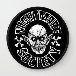NIGHTMARE SOCIETY Wall Clock