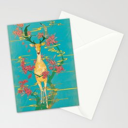 Deer on the Oleander Stationery Cards