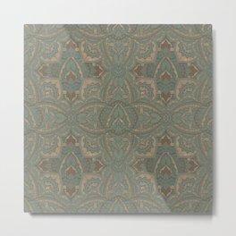 Art deco floral mandala 1 Metal Print