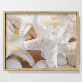 White Starfish Serving Tray