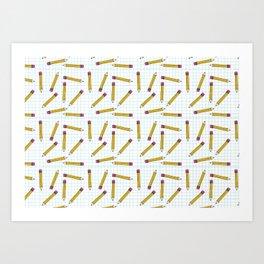 Pencils, Pencils Everywhere! Art Print