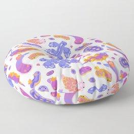 sea slug - pastel Floor Pillow