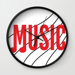 Music is my Soul Wall Clock
