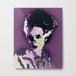 Bride of Frankenstein- Classic Movie Monster Digital Illustration Art Print Metal Print