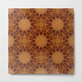 Marquetry Mandalas Metal Print