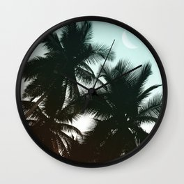 Summer Gradient Palms Wall Clock