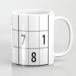 Sudoku Series: Hard Level - Mono Coffee Mug