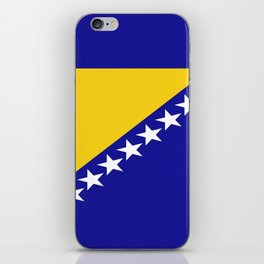 Flag of Bosnia – Bosnian,Bosniak,herzegovinian,bosna,Sarajevo,Balkan,yugoslavia. iPhone Skin