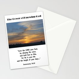 Power of Knowing God Stationery Cards