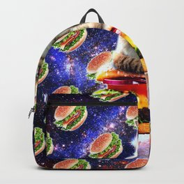Hamburger Astro Cat On Burger Backpack