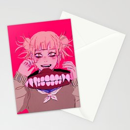 bnha - toga himiko Stationery Cards