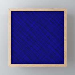 Fluttering ornament of their blue threads and dark intersecting fibers. Framed Mini Art Print