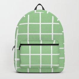 Mint Grid Pattern 2 Backpack