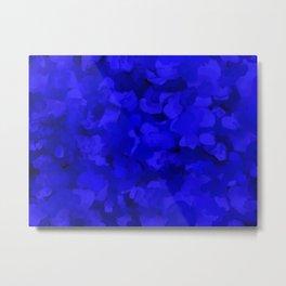 Rich Cobalt Blue Abstract Metal Print