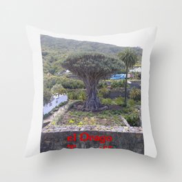 el Drago Teneriffa  (A7 B0101) Throw Pillow