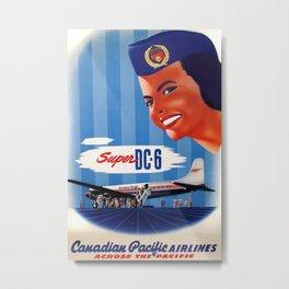 Super DC 6 Vintage Travel Poster Metal Print