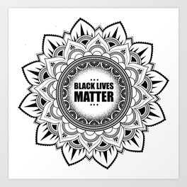 All Sales Donated to For the Gworls, supporting Black Trans folks. Black Lives Matter Art Print