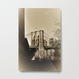 Brooklyn Bridge in NYC Americana Metal Print