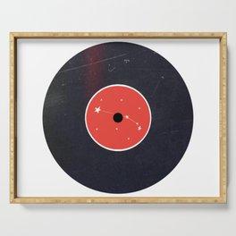 Vinyl Record Zodiac Sign Aries Serving Tray