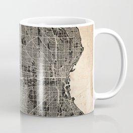 MILWAUKEE map Wisconsin Ink lines Coffee Mug