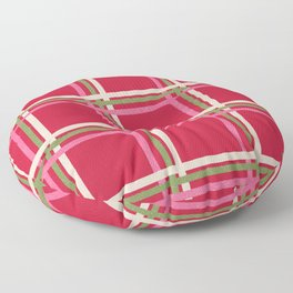 Christmas check in the snow Floor Pillow