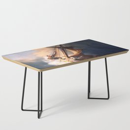 The Storm On The Sea Of Galilee Painting By Rembrandt Coffee Table