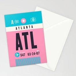 Baggage Tag A - ATL Atlanta USA Stationery Cards