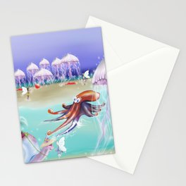 Sea Life Fairy Island,Childrens illustration Stationery Cards