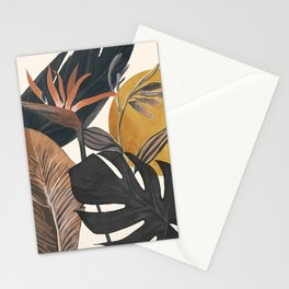 Abstract Tropical Art III Stationery Cards