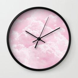 Clounds Sky Pink Wall Clock