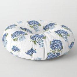 Hydrangea Chinoiserie Jenna Floor Pillow