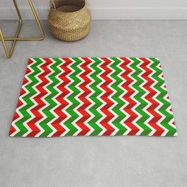 Christmas Pattern 4 Christmas chevrons Rug