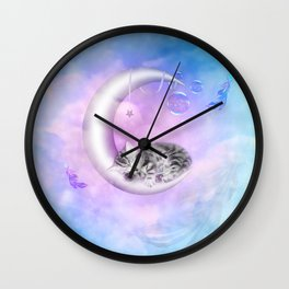 Sweet little kitten Wall Clock