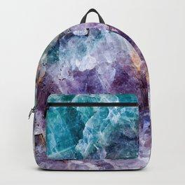 Turquoise & Purple Quartz Crystal Backpack