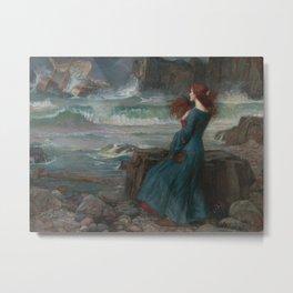 John William Waterhouse - Miranda Metal Print