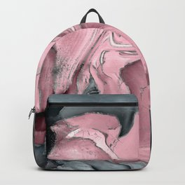Blush rose watercolor - pastel pinks, grey and silver Backpack