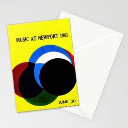 1961 Newport Jazz Festival Vintage Advertisement Poster Newport, Rhode Island Stationery Cards