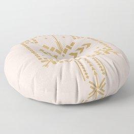Boho Totem Pink & Gold Floor Pillow