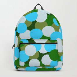 Abstraction_DOTS_GREEN_BLUE_COLOR_03 Backpack