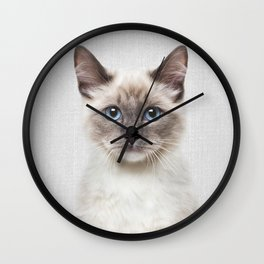 Cat - Colorful Wall Clock