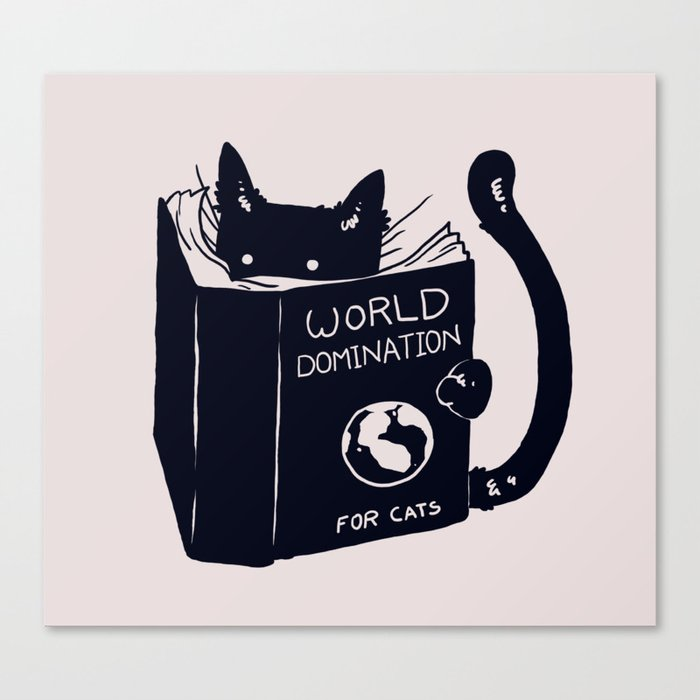 World Domination For Cats Leinwanddruck