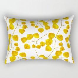 Gold Leaf Art Rectangular Pillow
