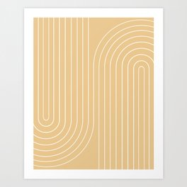Minimal Line Curvature XXVIII Art Print